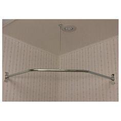 Randolph Morris Clawfoot Tub Shower Enclosure - Corner Ring, 48-inch NEO Angle