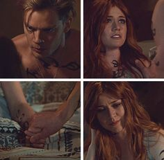 Jace and Clary Shadowhunters Clary And Jace, Clary Y Jace, Shadowhunters Tv Show, Shadowhunters The Mortal Instruments, Shadow Hunters Book, Dominic Sherwood, Cassandra Clare Books, Jace Wayland, Clace