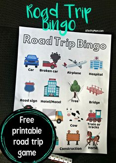 Road trip bingo free printable comes with 4 different versions so everyone can have a different version. Print off before your road trip for a free car game Road Trip Bingo, Cool Diy, Travel With Kids, Family Travel, Car Bingo, Car Travel, Travel Tips, Travel Hacks, Camping Hacks