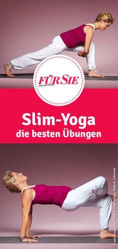 Mit Slim-Yoga-Übungen kannst du sofort beginnen. Das Gute: Es gibt keinen festen Ablauf. Wir zeigen die besten Übungen für Muskelaufbau und Fettverbrennung.