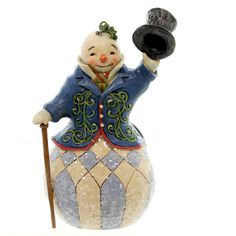 Jim Shore Victorian Snowman Hanging Ornment Resin Ornament