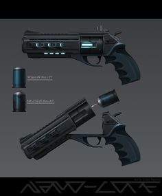 Sci Fi Hand Cannon Absolution by Nano-Core on DeviantArt Anime Weapons, Sci Fi Weapons, Weapons Guns, Robot Concept Art, Armor Concept, Weapon Concept Art, Fantasy Armor, Fantasy Weapons, Sci Fi Fantasy