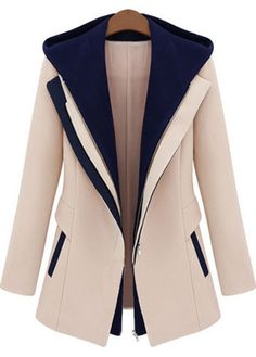 Vogue Long Sleeve Color Block Coat//