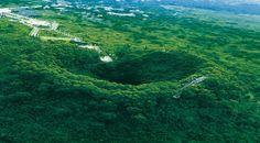 Haikou Volcano Park, 15 km west of Haikou City - 40 small volcanoes, 2 lava caves.