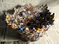 Rolled Paper Bowl - Tutorial. Use glue gun.