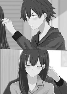 Yahari Ore no Seishun Love Comedy wa Machigatteiru - Oregairu Manga Online Manga Anime, Otaku Anime, Manga Art, Anime Couples Drawings, Anime Couples Manga, Cute Anime Couples, Manga Couple, Anime Love Couple, Kawaii Anime