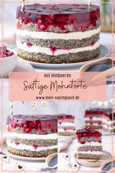 Here you can find a poppy seed cake recipe with juicy poppy seeds and raspberries # poppy cake # raspberry cake Best Picture For cake recipes For Your Taste You are looking for somethi Food Cakes, Torte Au Chocolat, Red Wine Gravy, Poppy Seed Cake, Chocolate Torte, Best Pie, Flaky Pastry, Cupcakes, Raspberry Cake