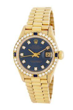 Rolex Women's President Crown Collection Yellow Gold Bracelet Watch by Donald E. Gruenberg Inc. on @HauteLook