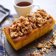 Moist Gateau Pumpkin - Pastry World French Dessert Recipes, Sweets Recipes, Brownie Recipes, Cooking Recipes, Vegetarian Recipes, Delicious Desserts, Yummy Food, Homemade Sweets, Breakfast Snacks