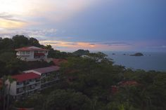 Sunrise as enjoyed from my suite at the Parador Resort & Spa, Costa Rica.