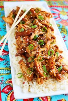 Crockpot Honey Sesame Chicken - delicious and easy, this may be the same yummy recipe that @agholuta uses?