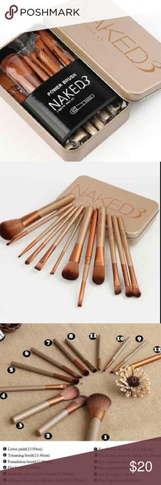 12pcs naked professional makeup brushes set BEAUTIFUL AND FUNCTIONAL. Wake up to these gorgeous rose gold brushes every morning!  This brush set makes the perfect gift for any woman. Set Contains 12 beautiful brushes  and a complimentary   makeup cosmetic brush set 12 pcs travel size with metallic case Wood handles with copper ferrule and very soft synthetic hair PERFECT SIZE FOR POCKET OR HANDBAG it would make a perfect gift Product specifications: Box Size 15 * 9 * 2.8cm;  large brush…