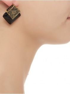 Vintage square earrings  Black 90