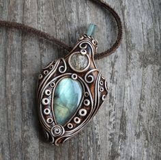 Game of Thrones  Gemstone clay pendant necklace