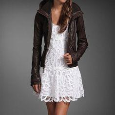leather + lace...oooooooooohhhh adorable combination