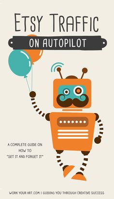 Etsy traffic on autopilot: connect online systems and services to your Etsy shop so that they drive traffic to your shop automatically, even when you're away from the computer. Get the complete guide here: http://www.workyourart.com/hello/etsy-traffic-autopilot/