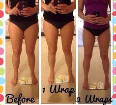 #itworks it works before and after thigh wrap.