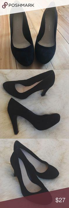 Franco Sarto Cicero Black Suede Size 7 Franco Sarto Cicero Black Suede Heel size 7.  Worn only once. Comes with box. Franco Sarto Shoes Heels