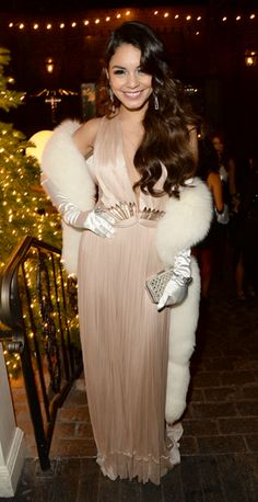 Vanessa Hudgens rocks old Hollywood glamour at her 25th birthday party