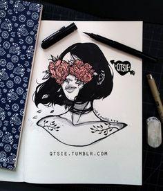 Flowers Art Sketchbook Illustrations New Ideas Inspiration Art, Art Inspo, Art Du Croquis, Arte Sketchbook, Sketchbook Tumblr, Sketchbook Ideas, Cheap Art, Art Et Illustration, Landscape Illustration
