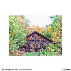 Old Barn in the Fall Canvas Print