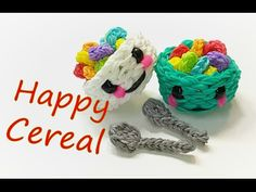 Happy Cereal (in a bowl) Tutorial by feelinspiffy (Rainbow Loom) - YouTube