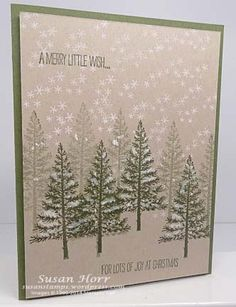 Festival Of Trees, Stampin Up, susanstamps.wordpress.com
