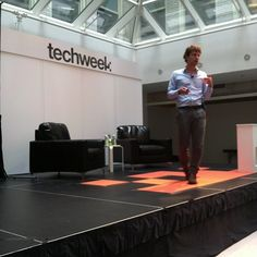 Adam Fisk on the Summit Stage discussing bypassing regimes and dictatorship! #techweekchi