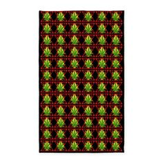 Marijuana Pattern Art 3x5' Area Rug. This high quality 2'x3' or 3'x5' (select size, as available) decorative area rug is 100% heavy woven polyester fabric with a chevron texture & hemmed edges - durable for everyday use