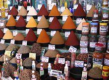 Gewürze auf dem Markt von Agadir, Marokko