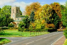 Abbots Ripton Church, Cambridgeshireprint - Painting from John Twinning Fine Art Prints