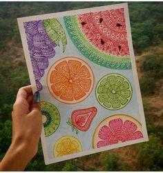 62 ideas zentangle art dibujos mandalas for 2019 Mandala Art, Mandala Design, Mandala Drawing, Mandala Colour, Circle Drawing, Watercolor Mandala, Doodle Art Drawing, Cool Art Drawings, Art Drawings Sketches
