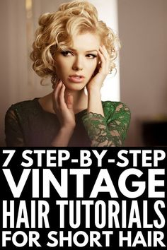 30 Step-by-Step Vintage Hairstyles for All Hair Lengths How To Style Short Hair Hair Hairstyles Lengths stepbystep Vintage Vintage Hairstyles Tutorial, Retro Hairstyles, Short Bob Hairstyles, Easy Hairstyles, Bob Haircuts, Wedding Hairstyles, Homecoming Hairstyles, Curled Bob Hairstyle, Updo Hairstyle