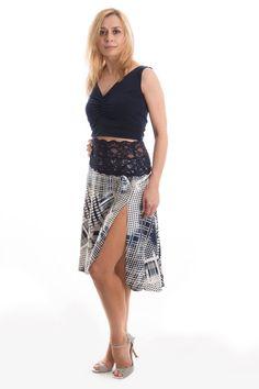 Falda satén sedosa tango, falda encaje, dobladillo asimétrico de corte, danza, faldas de tango, ropa de raso de baile