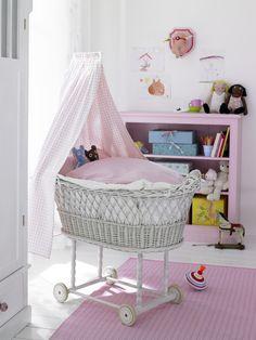 Vintage pink nursery. Preparing for #baby? Visit www.nourishbaby.com.au