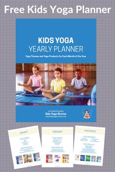 The Ultimate Kids Yoga Planner 2018 - download for easy reference for your yearly kids yoga planning! | Kids Yoga Stories