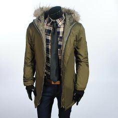 Men's Army Style Trench Coats Outerwear via martEnvy. Click on the image to see more!