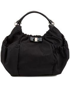 Salvatore Ferragamo  Desiderata  Fabric Shoulder Bag 3d9bb223a9114