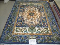 No.C2822, Handmade Silk/wool Carpet. Kpsi 100, Density 120 lines. Size 5'x8' (152cm x 243cm). Real silk, Pure hand-made, whth carved Origin: Henan China, Zhengzhou Yile Carpet Company. www.ylrug.com, info@ylrug.com, ylrug@126.com.+86-13849180658