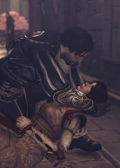 """Requiescat in pace ... my love."" :`( Man! Why are all the gals dying in this series? Ezio's Christina. Haytham Kenway's wife, Kaniehtí:io. Edward Kenway has Caroline and Mary die on him. Arno lost Elise. Sophia seems to be the only one who outlived the assassin - right?"