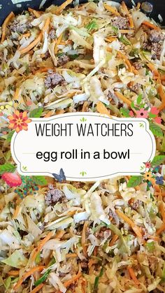 freestyle watchers fullest instant weight whole bowl roll live life keto pot the egg 30 weight watchers egg roll in a bowl freestyle egg roll in a bowl egg roll in a bowl keto egg rolYou can find Egg roll in a bowl and more on our website Weight Watcher Dinners, Plats Weight Watchers, Weight Watcher Recipes, Weight Watchers Recipes With Smartpoints, Weight Watchers Lunches, Weight Watchers Breakfast, Weight Watchers Chicken, Weight Watchers Casserole, Ww Recipes