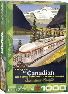 EuroGraphics CP Rail The Canadian 1000 Piece Puzzle