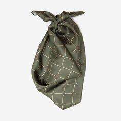 Match Day optical illusion silk scarf