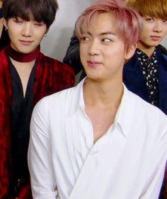 Way dose it look like Yoongi told Jin that he heard him and Namjoon last night and Jin is freaking out but need to act cool? Jhope, Jimin, Suga Suga, Bts Bangtan Boy, Taehyung, Seokjin, Kim Namjoon, Jung Hoseok, Bts Jin