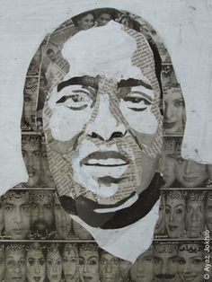 newspaper collage portrait - Google Search