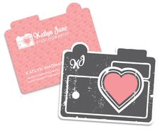 Camera shaped business cards