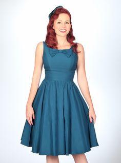 Noely Swing Dress | Peacock Blue
