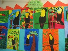 here is what we have been up to in the art room recently. {Eric Carle inspired collages after reading Mister Seahorse - created by the . School Art Projects, Projects For Kids, Art School, Project Ideas, Third Grade Art, Second Grade, Street Graffiti, Halloween Activities, Art Lessons