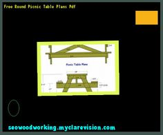 Free Round Picnic Table Plans Pdf 132614 - Woodworking Plans and Projects!