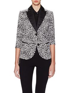 Printed Tuxedo Jacket by Love Moschino at Gilt